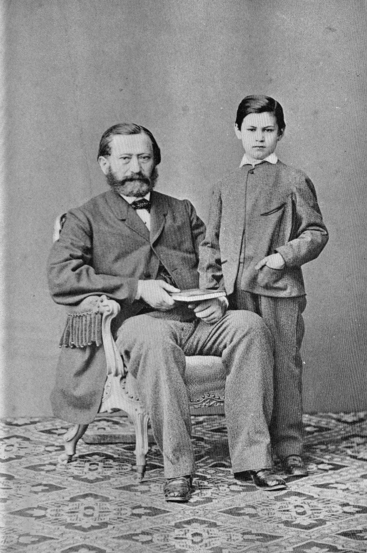 Sigmund Freud y su padre Jacob